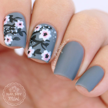 Floral Print for Ane Li nail art by xNailsByMiri