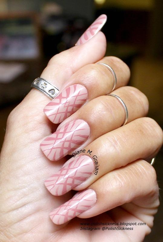Muted Pinks nail art by PolishSickness