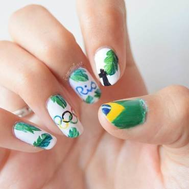 Olympics Game of Rio 2016 nail art by i-am-nail-art
