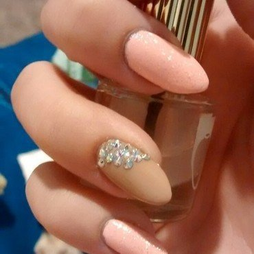 sparkle nail art by Emme