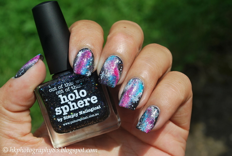 Galaxy nails inspired by Simply Nailogical nail art by Hana K ...