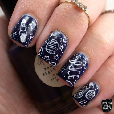 Space Sky nail art by Marisa  Cavanaugh