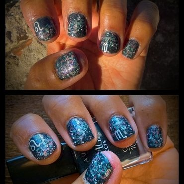 Leo with Scorpio ascendant  nail art by Avesur Europa