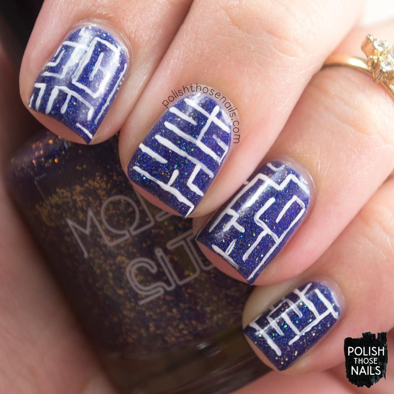 Model Mazes nail art by Marisa  Cavanaugh