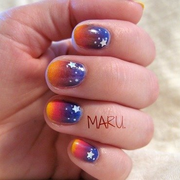 Twilight nail art by Martina