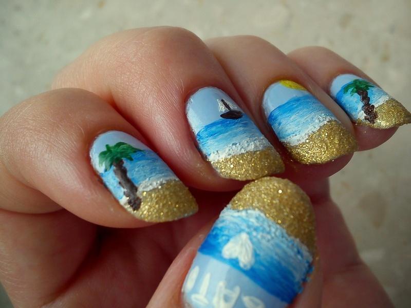 Summer nail art nail art by Pulinka