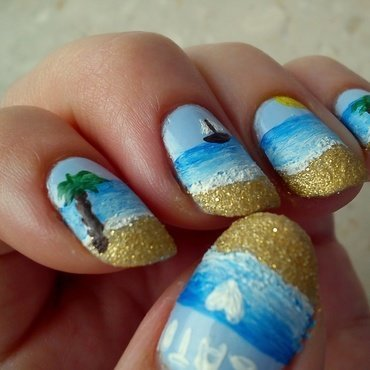 Summer nail art nail art by Pulinka