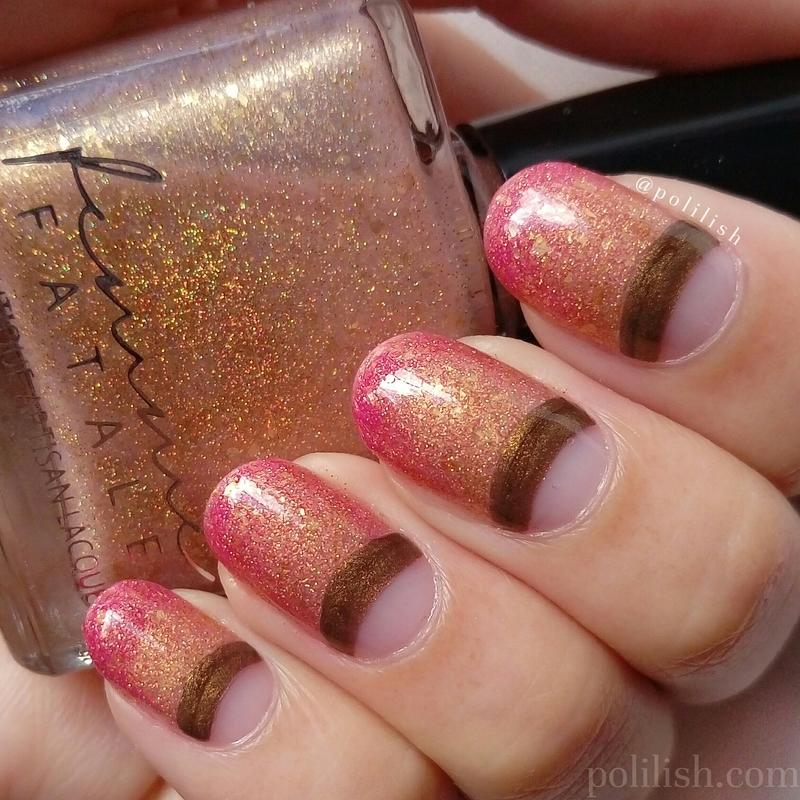 Thermal half-moon nails nail art by polilish