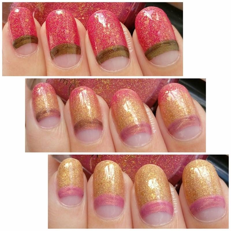Thermal half-moon nails (collage) nail art by polilish