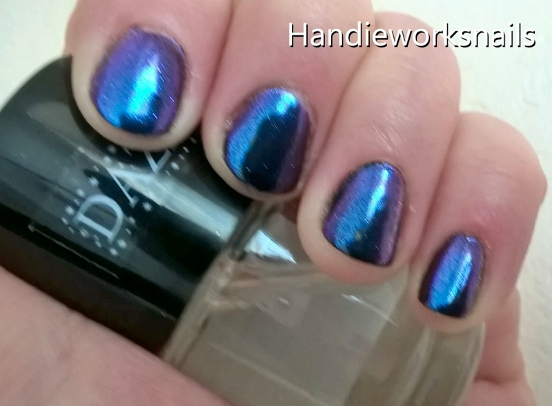 MultiChrome Purple/Teal nail art by Sazjay