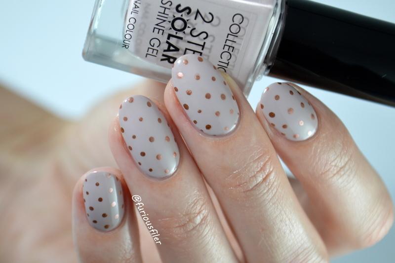 Delicate Polka Dot  nail art by Furious Filer