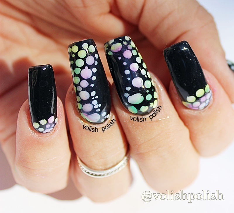 How to ombre dotticure with sheer gel polish nail art by Volish Polish