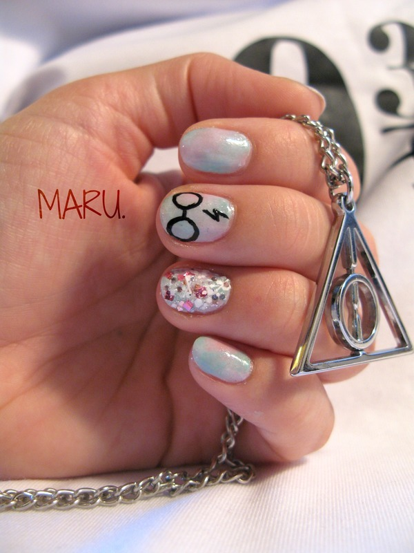 Harry Potter Pastel nail art by Martina