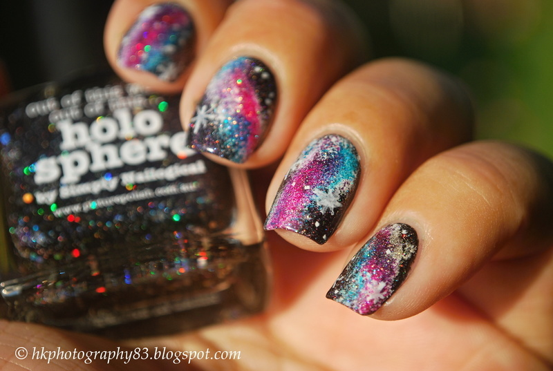Galaxy nails inspired by simply Nailogical nail art by Hana K.