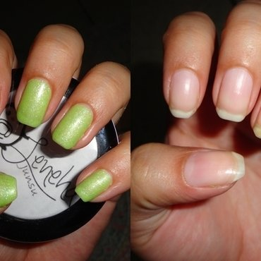 How I remove gel polish at home+Damage Free in 2 minutes nail art by Leneha Junsu