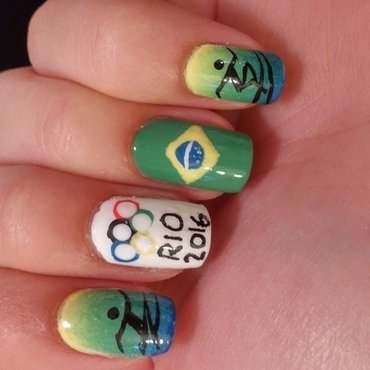 rio olympics nail art by Maya Harran