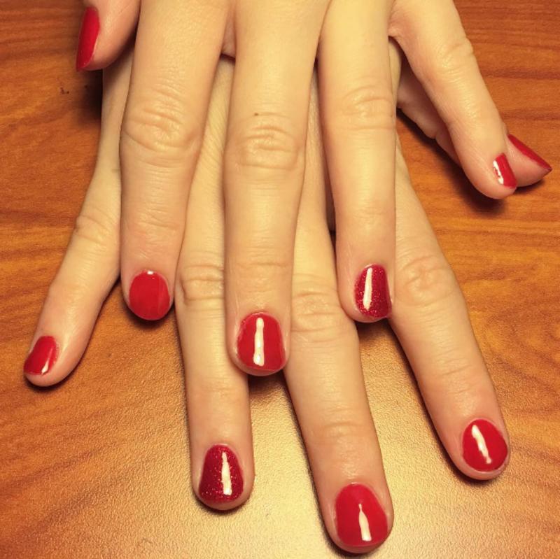 Linda's Bridal Shower Nails nail art by Kristen Lovett