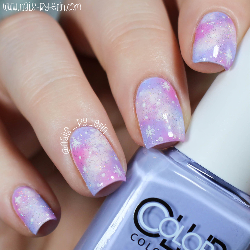 Pastel Galaxy Nails nail art by Erin