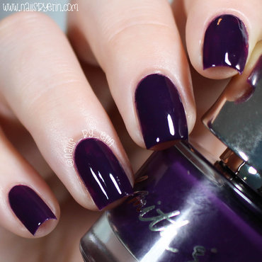 Smith and Cult Filth Noir Swatch by Erin