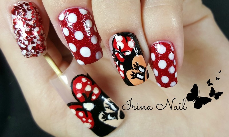 Minnie Mouse Acrylic Nails Images.Disney Acrylic Nails. Tutorial ...