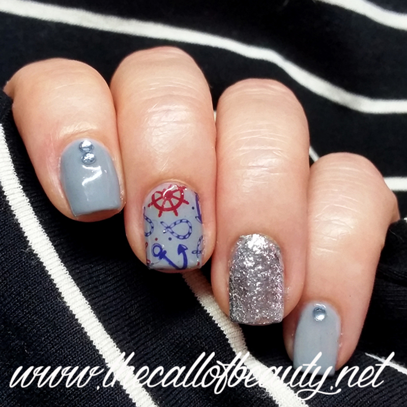 Navy Manicure nail art by The Call of Beauty