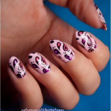 Cute paisley :) nail art by notcopyacat