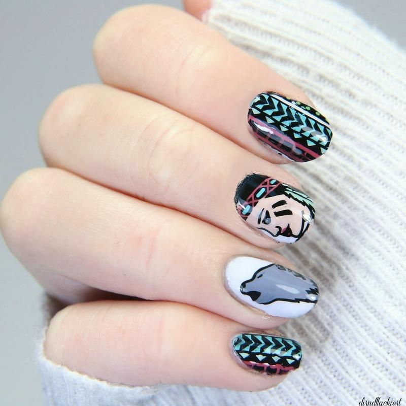 Reversestamping  nail art by dirndllackiert
