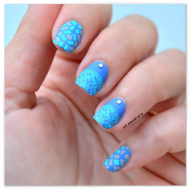 Arabesque Moyou nail art by Les ongles de B.