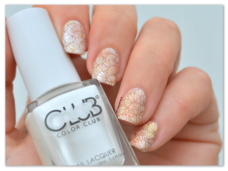 Twin stamping nail art by Les ongles de B.
