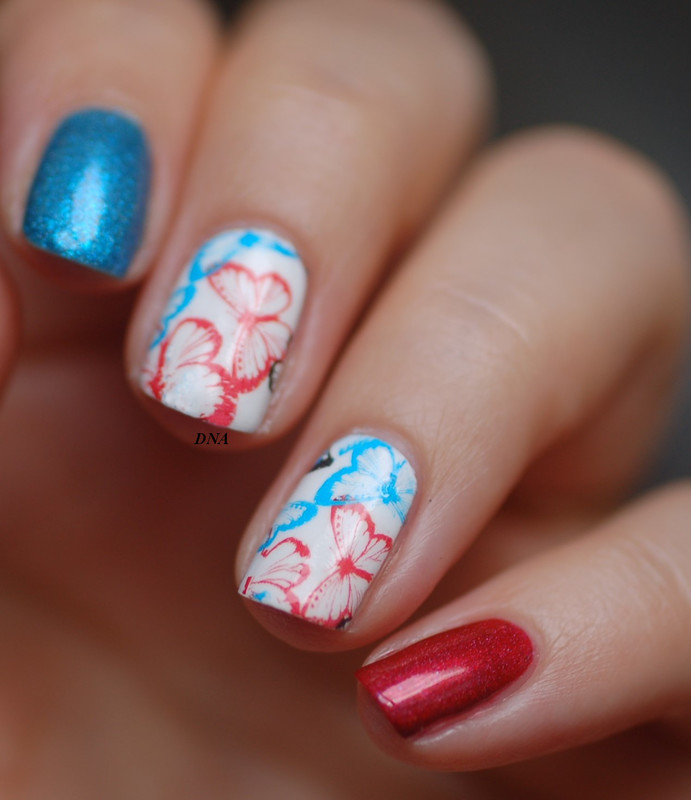 french national day nail art for freedom! nail art by Dorothy NailAssay
