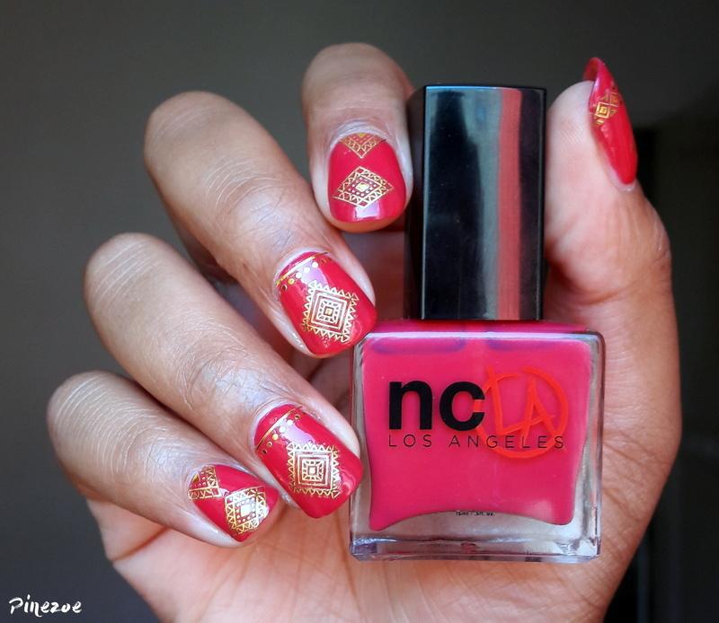 Oriental nail art by Pinezoe