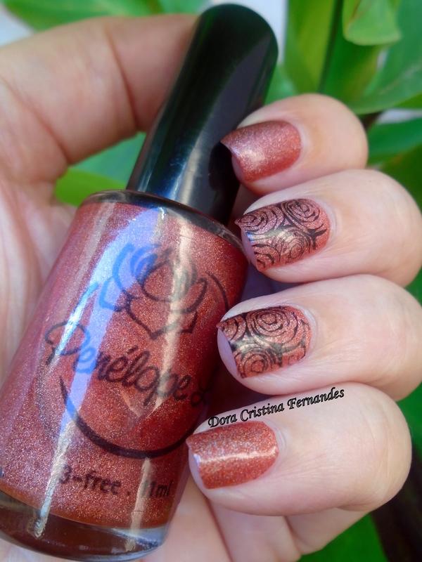 Orange Roses nail art by Dora Cristina Fernandes