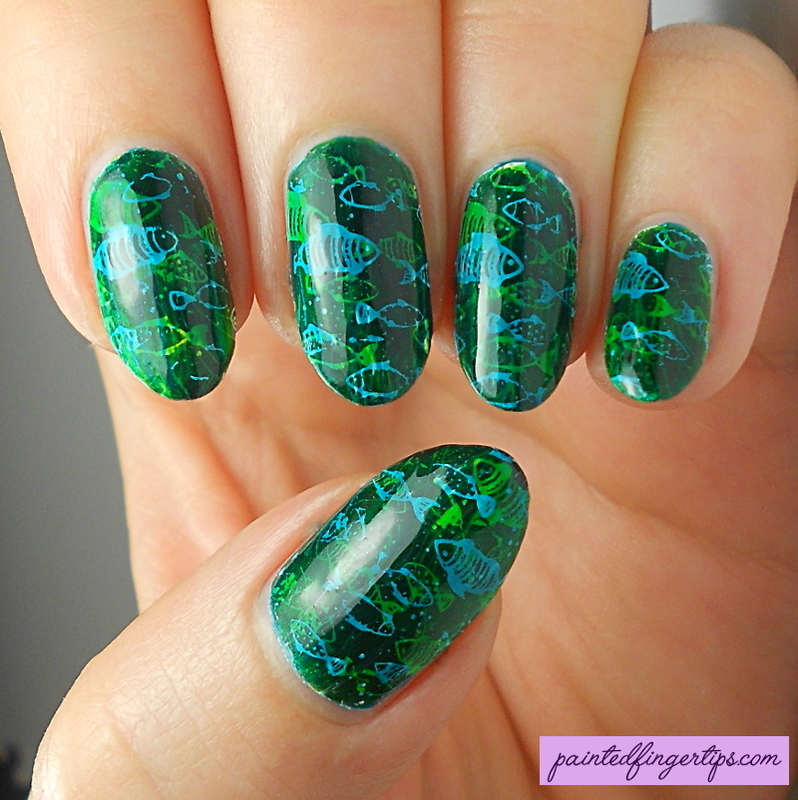 Pond mani nail art by Kerry_Fingertips