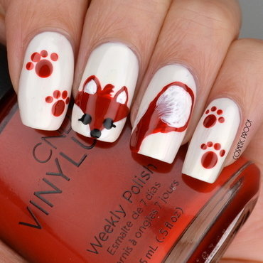 Fox Nail Art nail art by Jayne