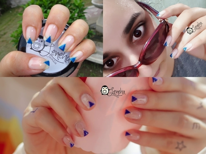 Triangle Nails  nail art by Leneha Junsu