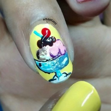 Arabian Delight..!!! nail art by Sohini  Sengupta