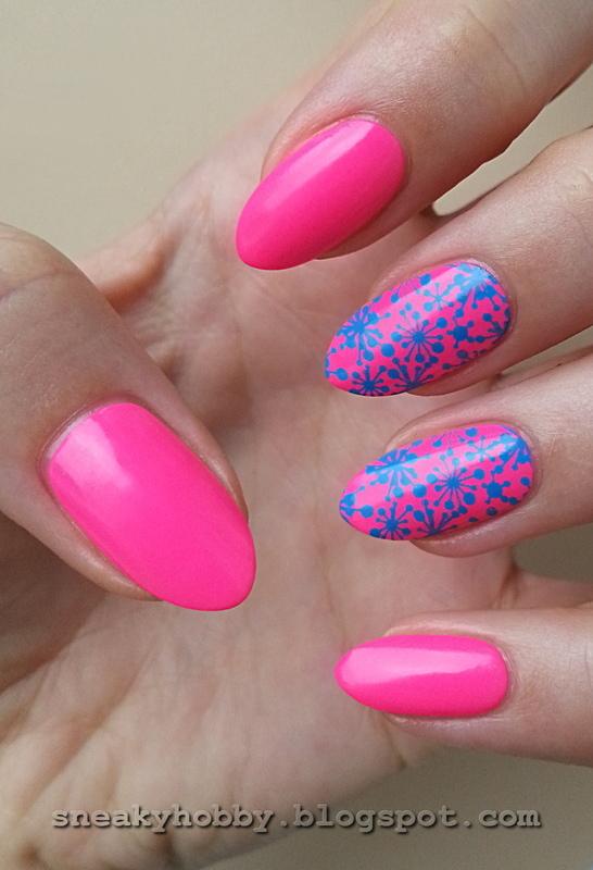 Colour Alike & B. Loves Plates Neons! Vol. 4 nail art by Mgielka M