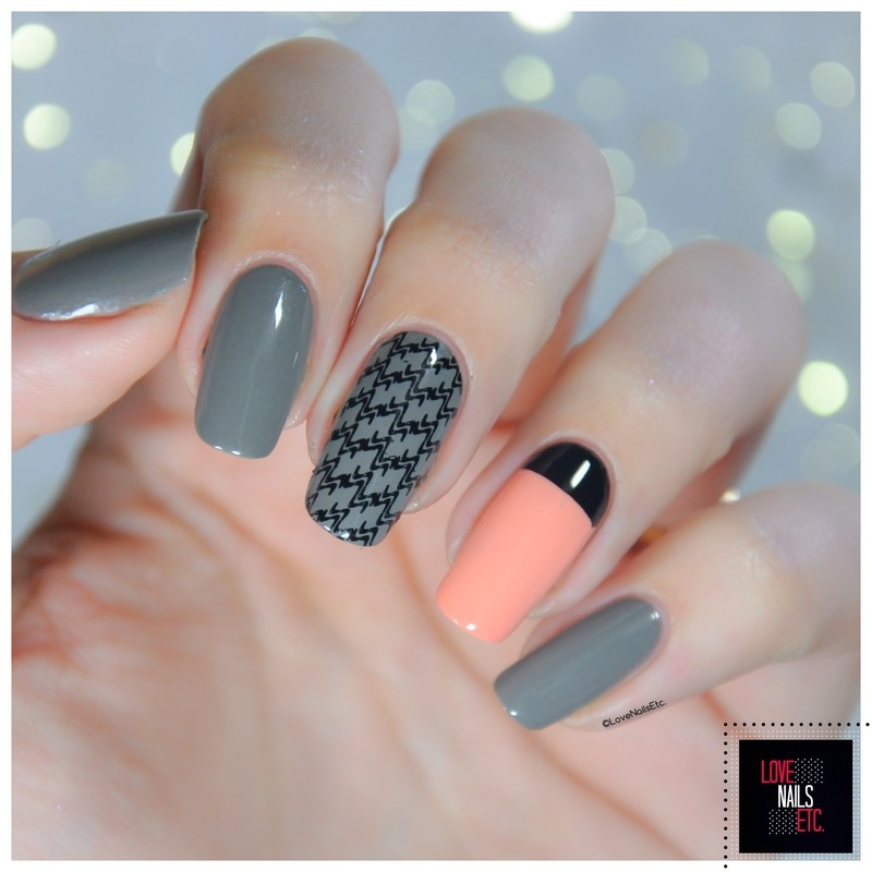 Easy Fashion Stamping Nail Art nail art by Love Nails Etc