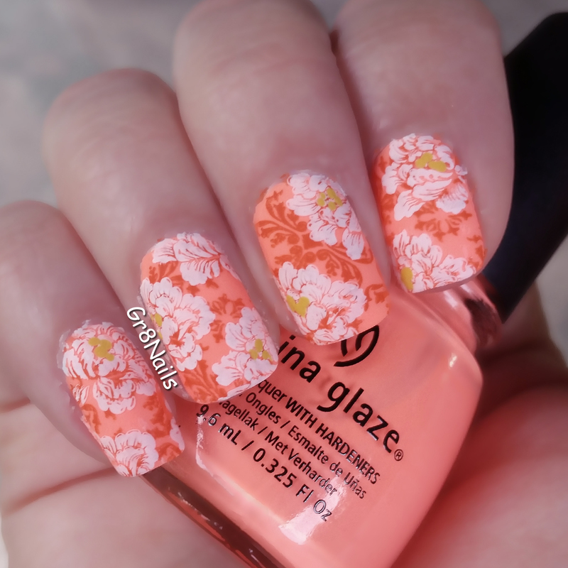 flowers nail art by Gr8Nails