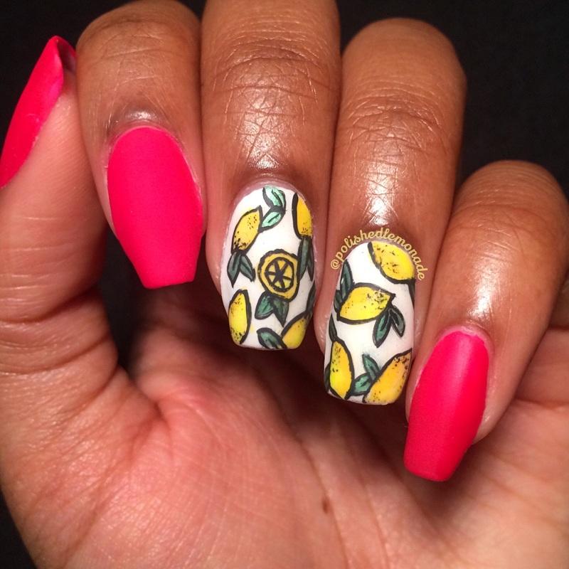 Lemon Nail Art nail art by Lawri