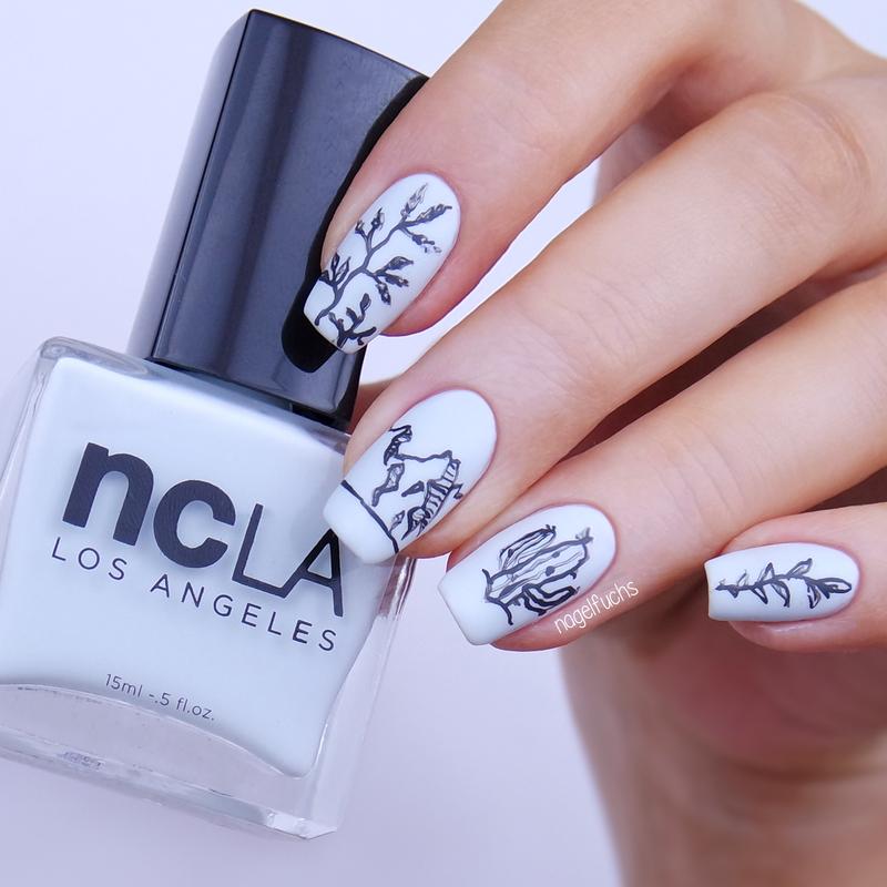 Nature Nails nail art by nagelfuchs
