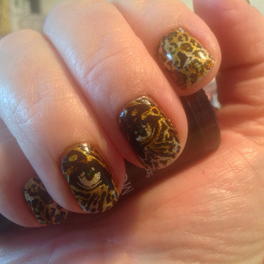 Panther nail art by Ronit