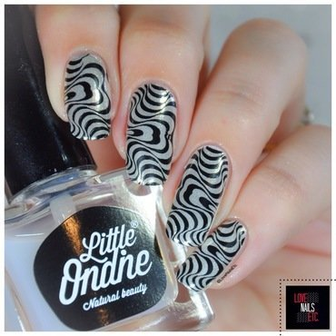 Chrome + Marbling nail art by Love Nails Etc