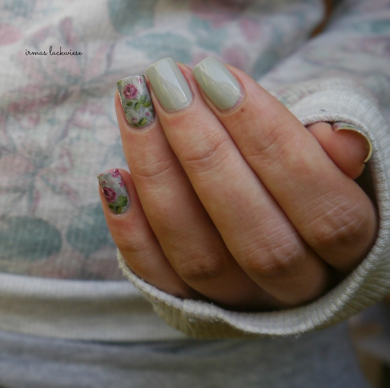 flower water decals nail art by irma