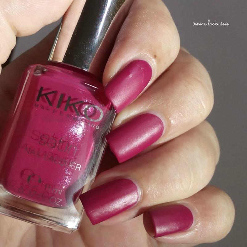 Kiko carmine red Swatch by irma