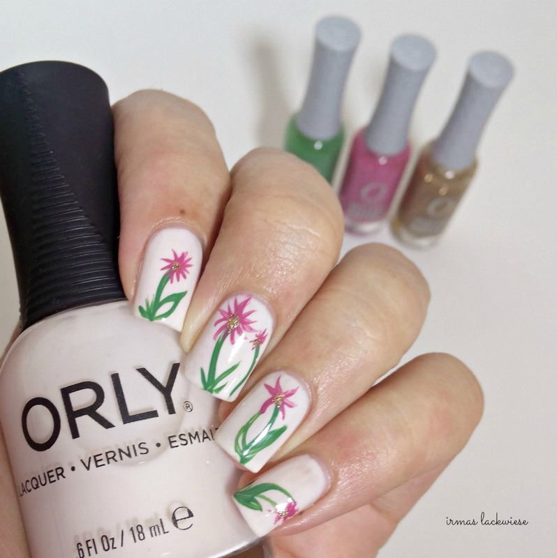 flower nails nail art by irma