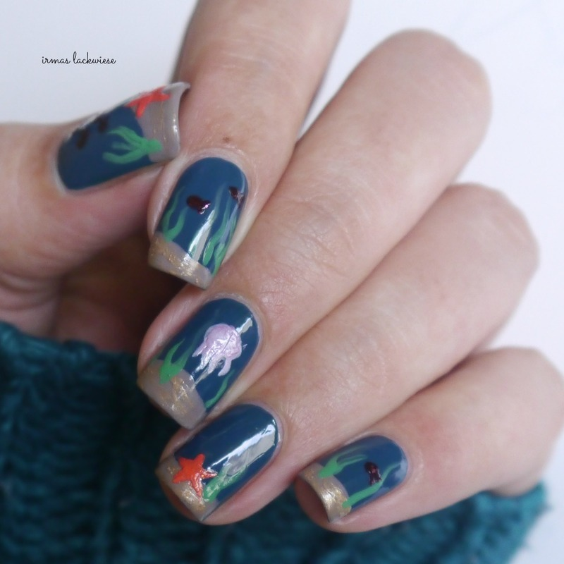 underwater nails nail art by irma