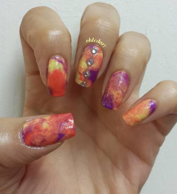 So Smooshy! nail art by chleda15