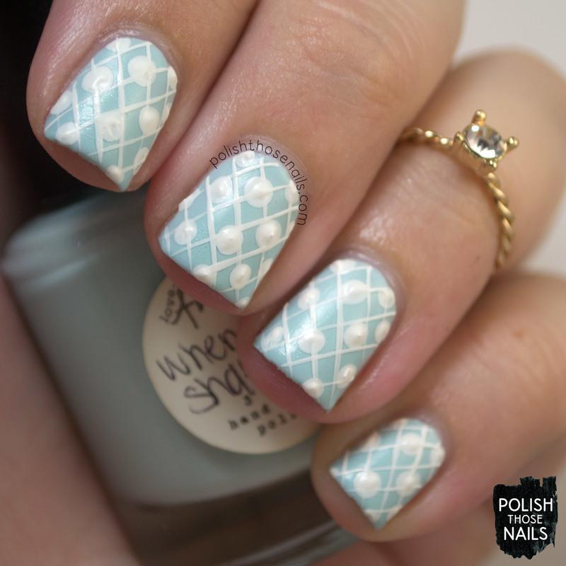 Quilted Mane nail art by Marisa  Cavanaugh