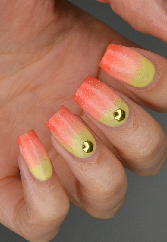 Sunset Summer Gradient nail art by Jayne